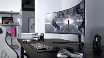 Odyssey G9 e G7 são os monitores curvos da Samsung com QLED e 240 Hz