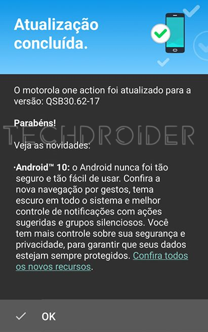 Motorola One Action com Android 10