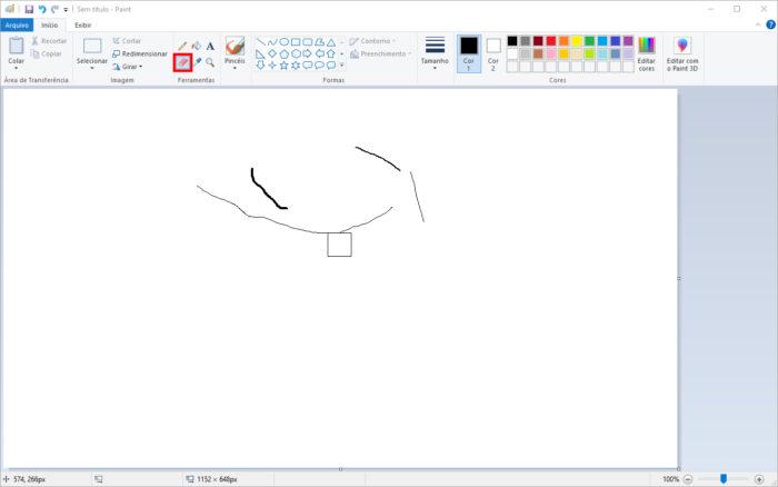 Microsoft / Paint / como aumentar a borracha do paint