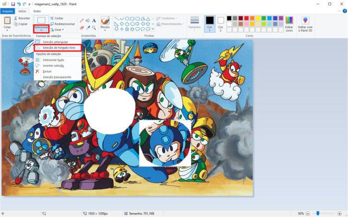 Microsoft / Paint / como como recortar imagem redonda no paint