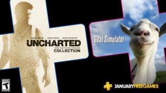 PS Plus de janeiro tem os Uncharted e Goat Simulator nos jogos grátis