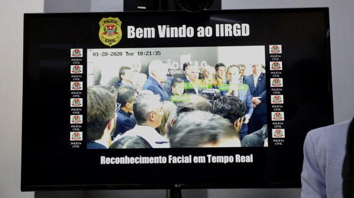 Reconhecimento facial da Polícia Civil de São Paulo