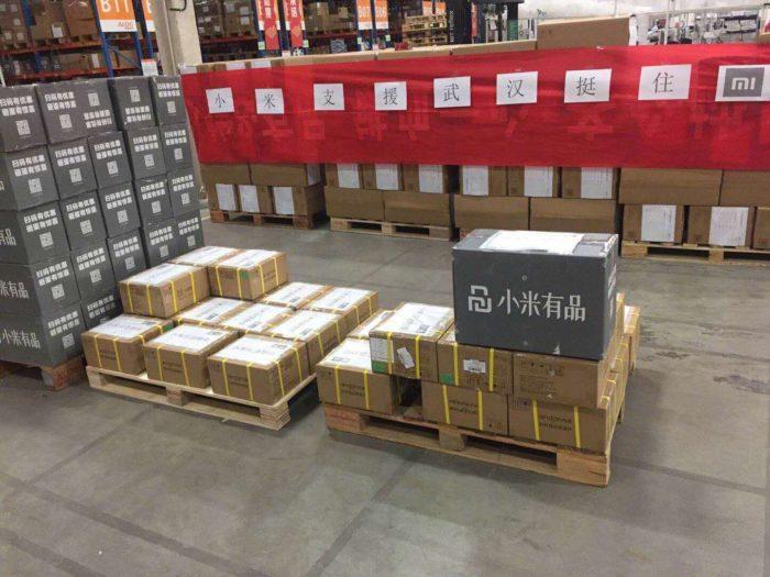 Suprimentos enviados pela Xiaomi