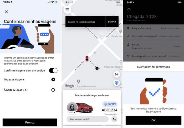 Código de verificação da Uber
