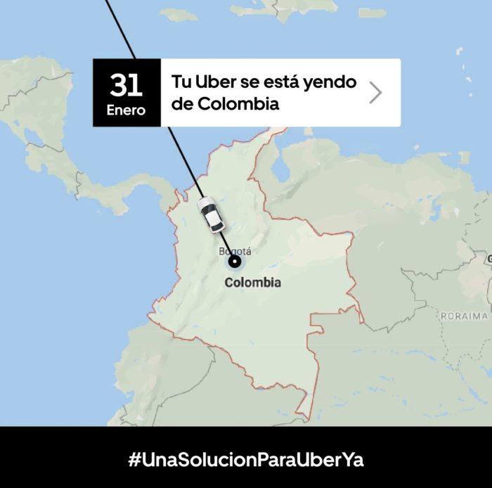 Uber despedida Colômbia