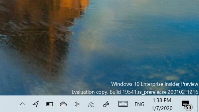 Windows 10 build 19541