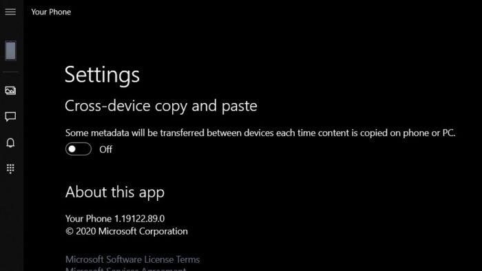 Windows 10 - copiar e colar em Seu Telefone