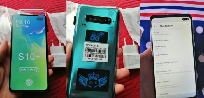 Samsung Galaxy S10 falso