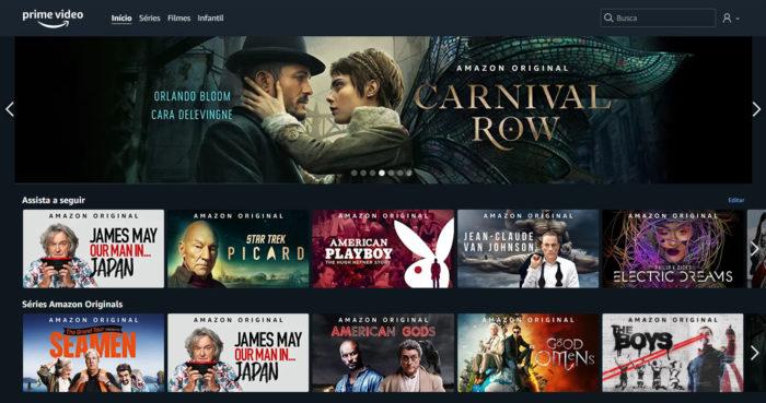 Amazon / Amazon Prime Video / mudar país amazon prime