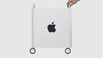 Apple Mac Pro não tem trava em suas rodinhas de R$ 3,2 mil