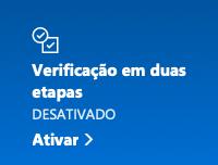 ativar verificação em duas etapas no Outlook