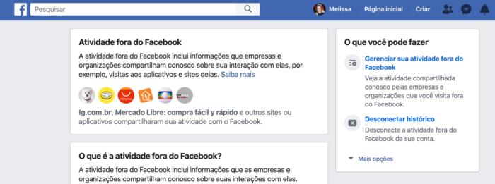 Atividade Fora do Facebook Apps