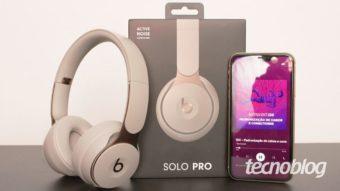 Beats Solo Pro: cancelamento de ruído, robustez e preço alto