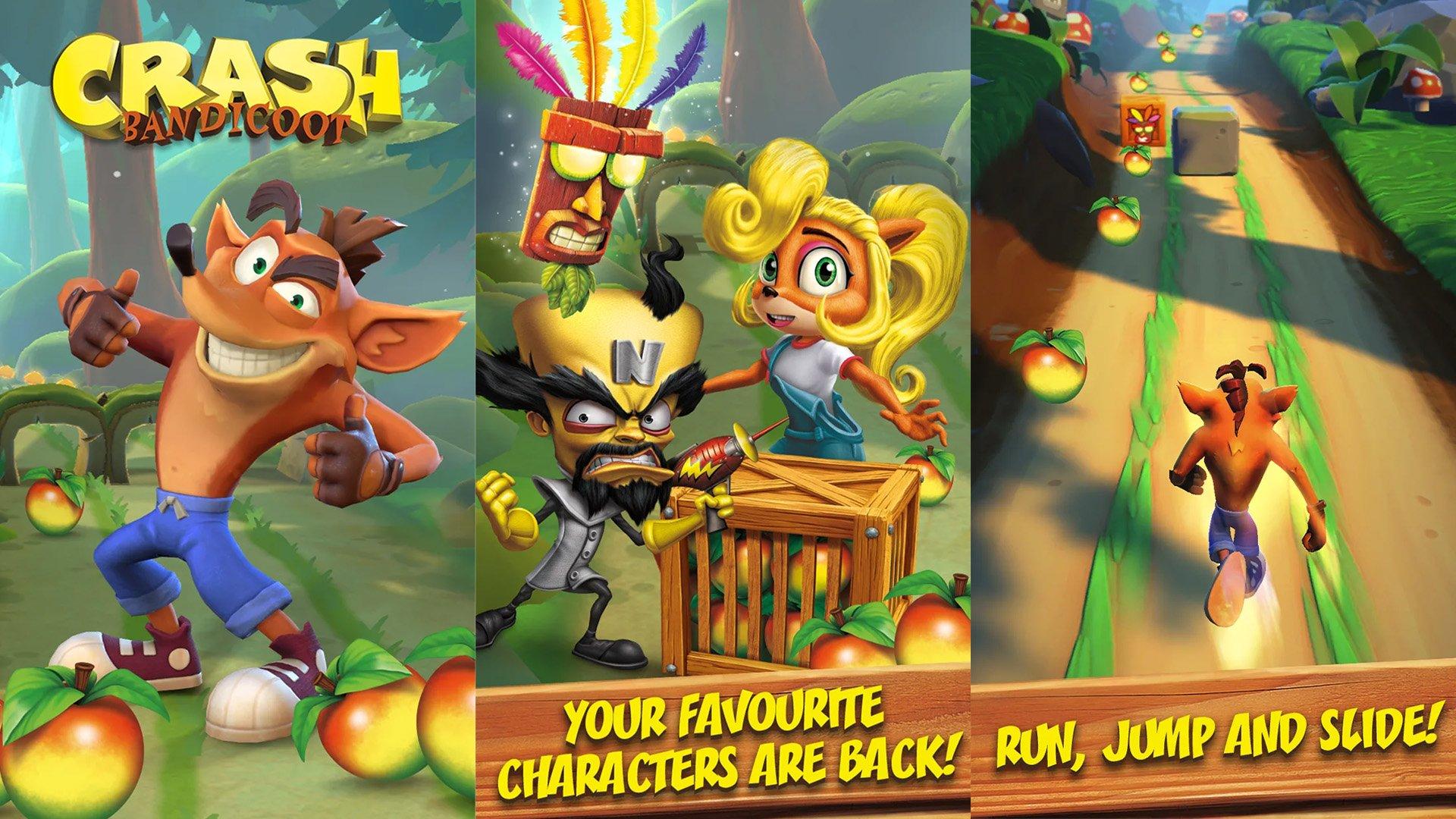 Crash Bandicoot, que vazou anteriormente; mas agora já ganhou um nome oficial, Crash Bandicoot: On the Run