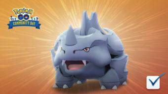 Rhyhorn é a espécie de fevereiro para o Dia Comunitário de Pokémon Go