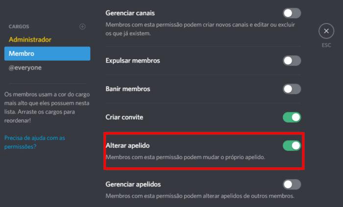 Discord / nomes para servidores discord