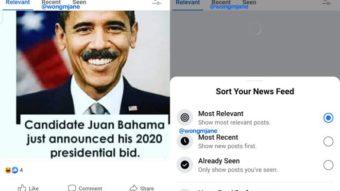 Facebook testa destacar feed em ordem cronológica no celular