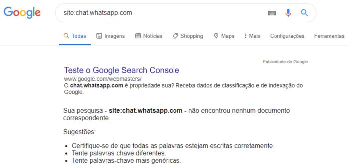 Google sem convites do WhatsApp