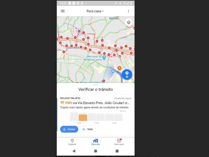 Google Maps - Vias Interditadas