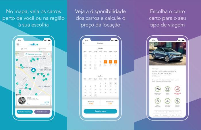 Android / MoObie / aluguel de carros