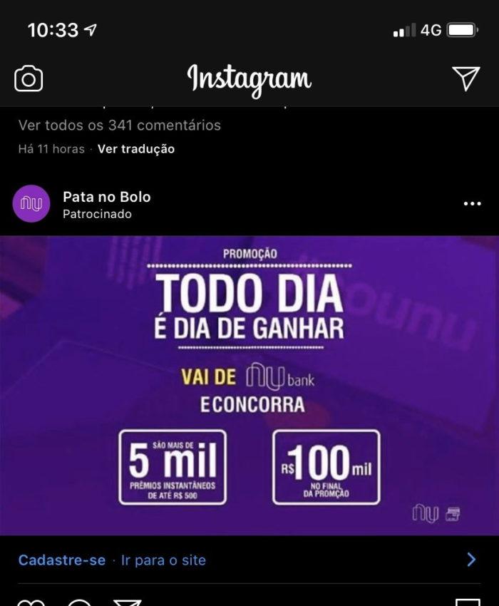 Nubank golpe Instagram