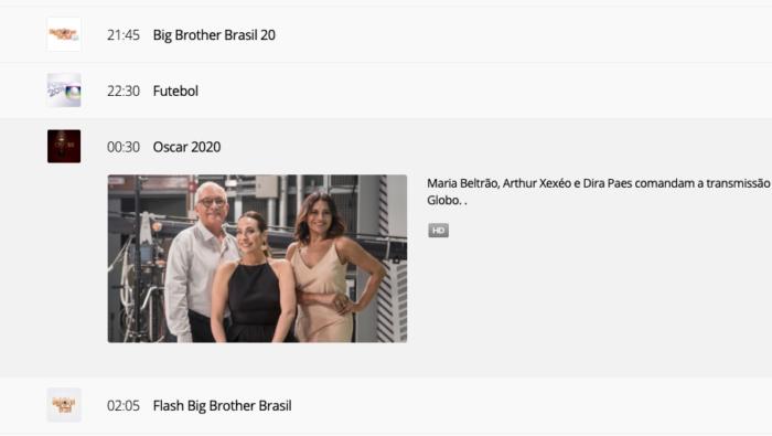 Oscar TV Globo