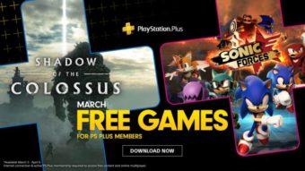 Sonic e Shadow of the Colossus são os jogos da PS Plus em março de 2020