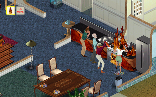 the sims fogo