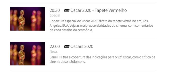 TNT Oscar 2020