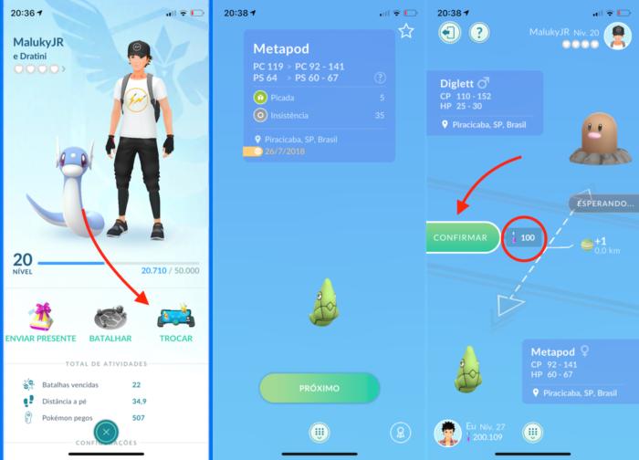 Fazer trocas em Pokémon Go
