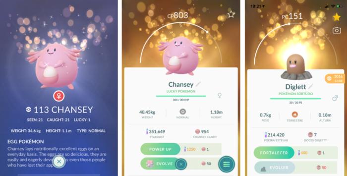 pokemon sortudo em Pokémon Go