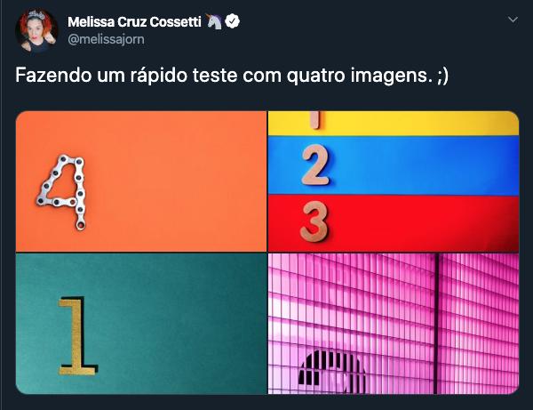 Tweet com quatro fotos