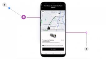 Uber exibe rotas de ônibus e metrô para mais usuários em SP