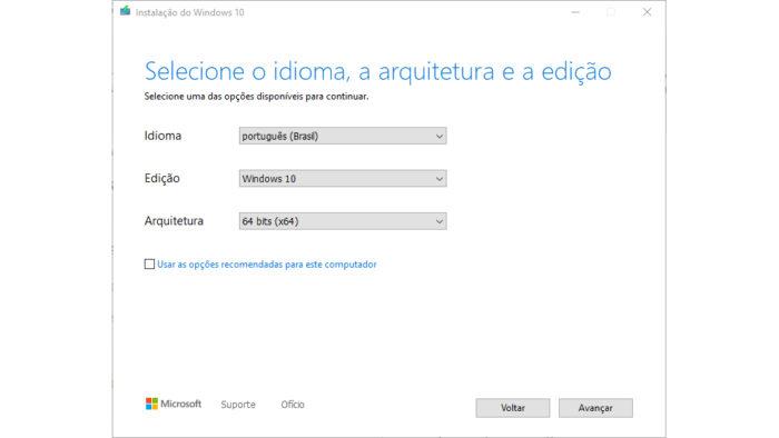 Microsoft / Windows 10 Install Tool / baixar windows 10