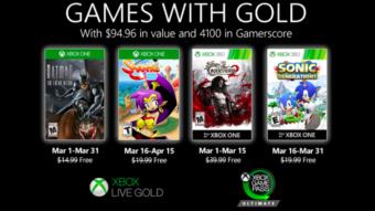 Batman e Sonic são alguns jogos grátis do Live Gold em março de 2020