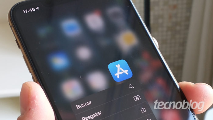 App Store no iPhone (Imagem: André Fogaça/Tecnoblog)