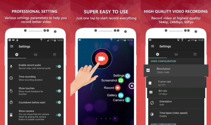 Android / AZ Screen Recorder / como gravar chamada de vídeo