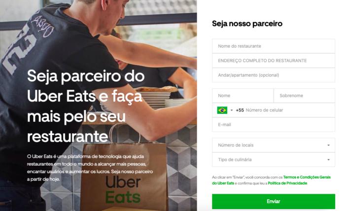 cadastrar restaurante no uber eats
