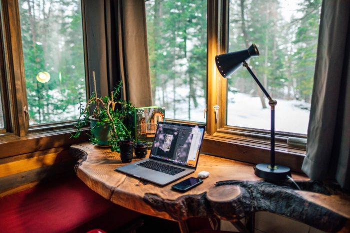 ambiente para videochamada em home office