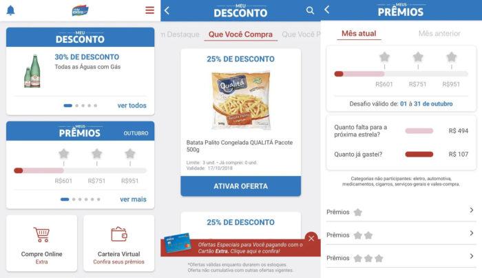 Android / Clube Extra / apps de supermercado