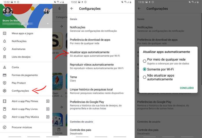 Como atualizar aplicativos automaticamente no Android