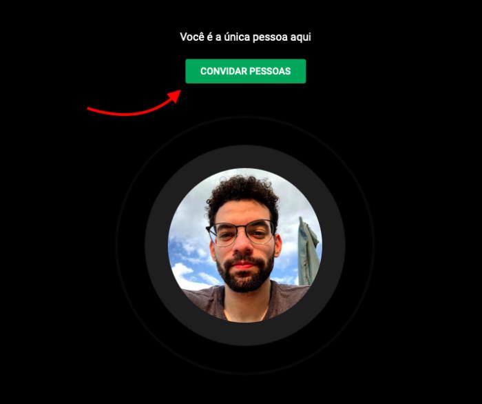 convidar pessoas para chamada de video no google hangouts