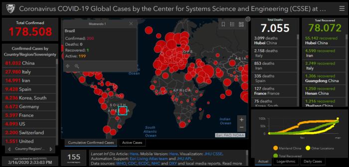 Mapa coronavírus