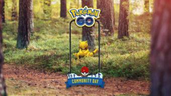 Abra é escolhido para dia da comunidade de Pokémon Go em março de 2020