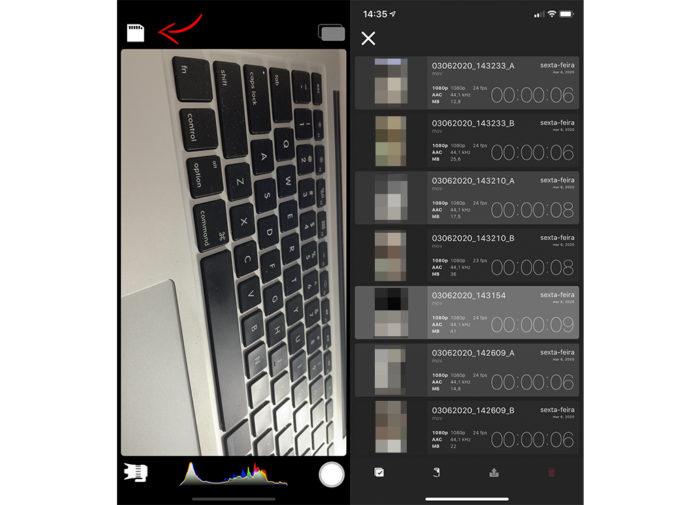 Como ver os vídeos do DoubleTake para iPhone