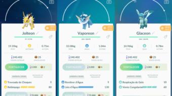Como escolher as evoluções do Eevee em Pokémon Go