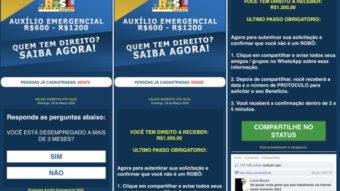 Golpe via WhatsApp promete auxílio de R$ 1.200 do governo