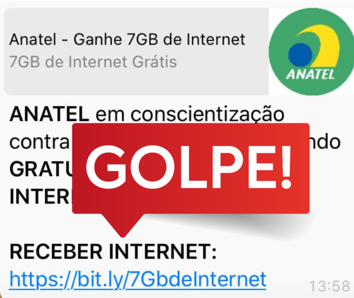 Golpe no WhatsApp / Anatel