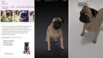 Google traz mais animais 3D em realidade aumentada na busca