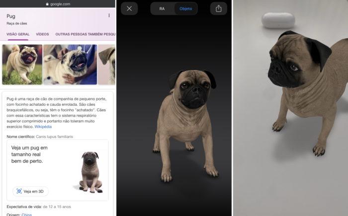 Google traz mais animais 3D em realidade aumentada na busca miniatura